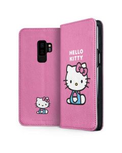 Hello Kitty Sitting Pink Galaxy S9 Plus Folio Case