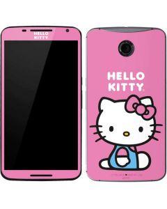 Hello Kitty Sitting Pink Google Nexus 6 Skin