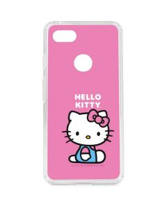 Hello Kitty Sitting Pink Google Pixel 3 XL Clear Case