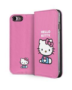 Hello Kitty Sitting Pink iPhone 8 Folio Case