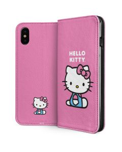 Hello Kitty Sitting Pink iPhone X Folio Case