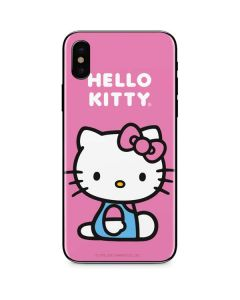 Hello Kitty Sitting Pink iPhone XS Skin