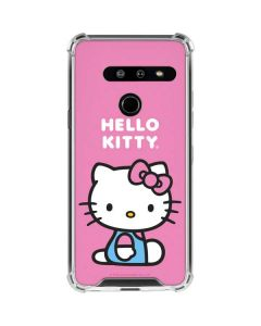 Hello Kitty Sitting Pink LG G8 ThinQ Clear Case