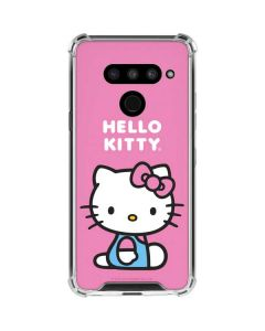 Hello Kitty Sitting Pink LG V50 ThinQ Clear Case