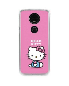 Hello Kitty Sitting Pink Moto E5 Plus Clear Case