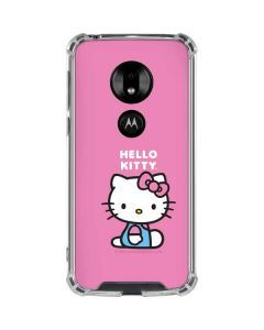 Hello Kitty Sitting Pink Moto G7 Play Clear Case