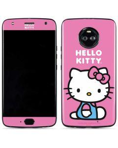 Hello Kitty Sitting Pink Moto X4 Skin