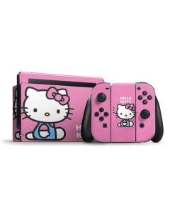 Hello Kitty Sitting Pink Nintendo Switch Bundle Skin