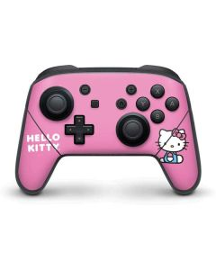 Hello Kitty Sitting Pink Nintendo Switch Pro Controller Skin