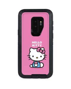 Hello Kitty Sitting Pink Otterbox Defender Galaxy Skin