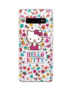 Hello Kitty Smile White Galaxy S10 Plus Skin