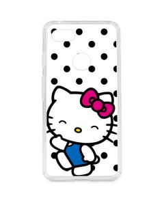 Hello Kitty Waving Google Pixel 3 XL Clear Case