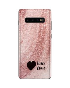 Hello Love Galaxy S10 Plus Skin
