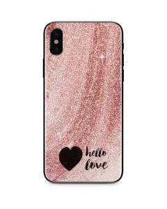 Hello Love iPhone XS Max Skin