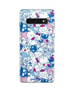 Hello Sanrio Blue Blast Galaxy S10 Skin
