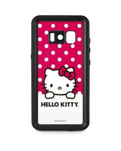 HK Pink Polka Dots Galaxy S8 Waterproof Case