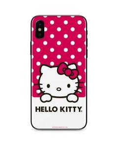 HK Pink Polka Dots iPhone XS Skin
