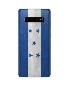 Honduras Flag Distressed Galaxy S10 Plus Skin