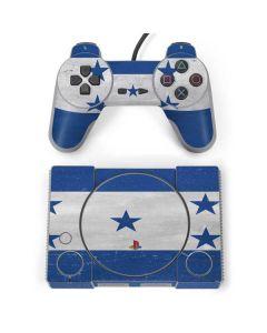 Honduras Flag Distressed PlayStation Classic Bundle Skin