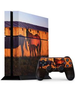 Horses at Sunset In Montana PS4 Console and Controller Bundle Skin