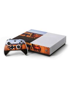 Horses at Sunset In Montana Xbox One S Console and Controller Bundle Skin