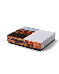 Horses at Sunset In Montana Xbox One S Console Skin