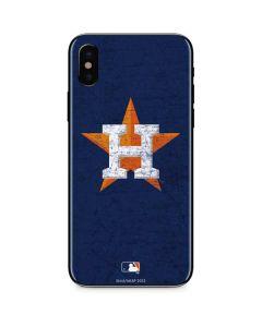 Houston Astros Alternate Distressed iPhone XS Max Skin