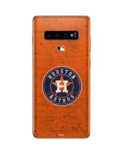 Houston Astros Distressed Galaxy S10 Plus Skin