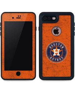 Houston Astros Distressed iPhone 8 Plus Waterproof Case