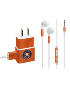 Houston Astros Distressed Phone Charger Skin