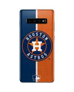 Houston Astros Split Galaxy S10 Plus Skin