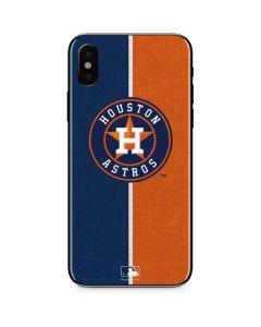 Houston Astros Split iPhone XS Skin