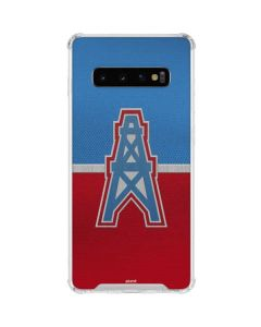 Houston Oilers Vintage Galaxy S10 Clear Case