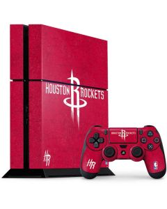 Houston Rockets Distressed PS4 Console and Controller Bundle Skin