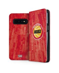 Houston Rockets Hardwood Classics Galaxy S10 Plus Folio Case