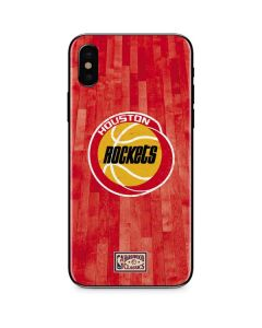 Houston Rockets Hardwood Classics iPhone X Skin