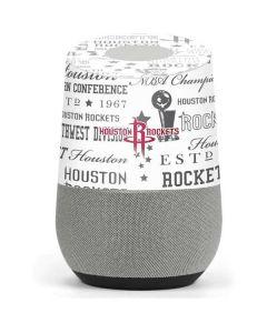Houston Rockets Historic Blast Google Home Skin