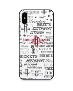 Houston Rockets Historic Blast iPhone X Skin