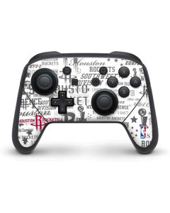Houston Rockets Historic Blast Nintendo Switch Pro Controller Skin