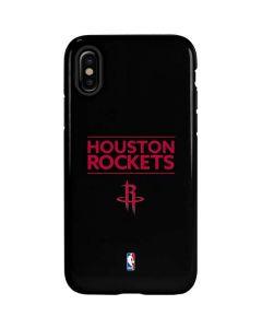 Houston Rockets Standard - Black iPhone X Pro Case