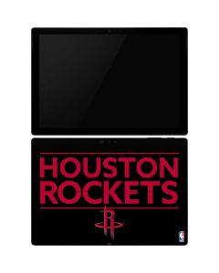 Houston Rockets Standard - Black Surface Pro 6 Skin