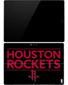 Houston Rockets Standard - Black Surface Pro (2017) Skin