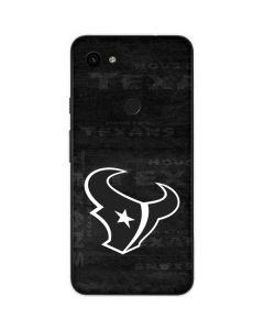 Houston Texans Black & White Google Pixel 3a Skin