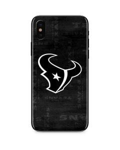 Houston Texans Black & White iPhone X Skin