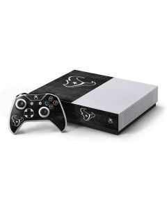 Houston Texans Black & White Xbox One S All-Digital Edition Bundle Skin