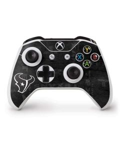 Houston Texans Black & White Xbox One S Controller Skin