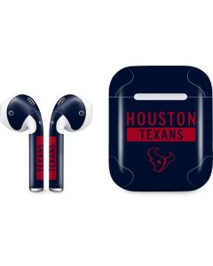 Houston Texans Blue Performance Series Apple AirPods Skin