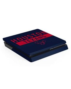 Houston Texans Blue Performance Series PS4 Slim Skin