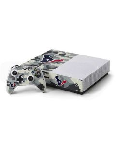 Houston Texans Camo Xbox One S Console and Controller Bundle Skin