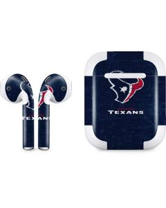 Houston Texans Distressed Apple AirPods 2 Skin